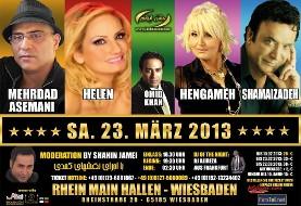 Nowruz Concert with Shamaizadeh, Hengameh, Omid Khan, Helen, and Mehrdad Asemani