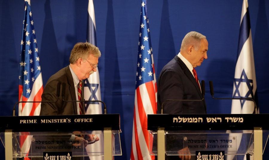 در پی خبر حمله مجدد اسراییل به مواضع ایران در سوریه،  جان بولتون و مشاور امنیت ملی اسرائیل در مورد ایران گفتوگو میکنند