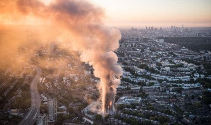 شمار قربانیان آتش سوزی در برج گرنفل به ۷۹ نفر رسید