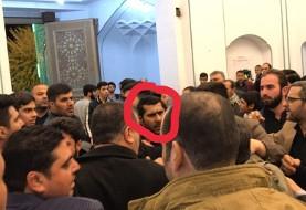 فیلم درگیری میان هواداران احمدینژاد و لباس شخصیها در حرم عبدالعظیم