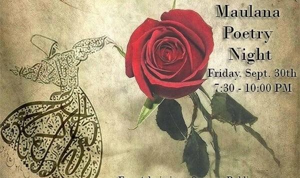 شب شعر ایرانیان کانزاس: بزرگداشت مولوی، همراه پذیرایی سبک