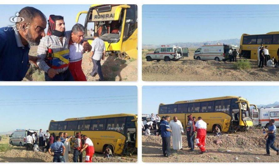 واژگونی اتوبوس زائران عراقی در دامغان
