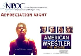 Reception and film screening of American Wrestler: The Wizard, Heroic story of Iranian American athlete