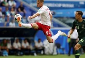 استرالیا جلوی دانمارک ایستاد و یک امتیاز گرفت