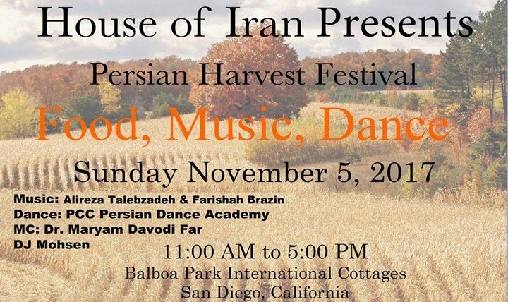 Alireza Talebzadeh at Persian Harvest Festival