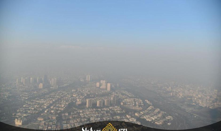 لحاف سنگین و سیاه روی تهران: تصاویر هوایی از شدت آلودگی هوای تهران در عصر دیروز