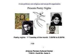 ۱st Tuesday Poetry Night by Dr. Zarandy