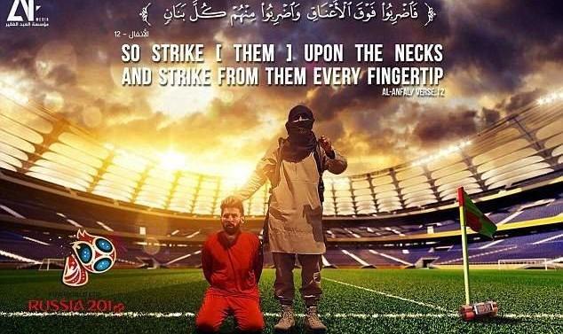 عکس: داعش جام جهانی روسیه، مسی و رونالدو را تهدید کرد