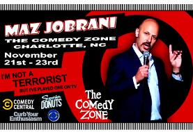 Maz Jobrani, Live at the Comedy Zone in Charlotte