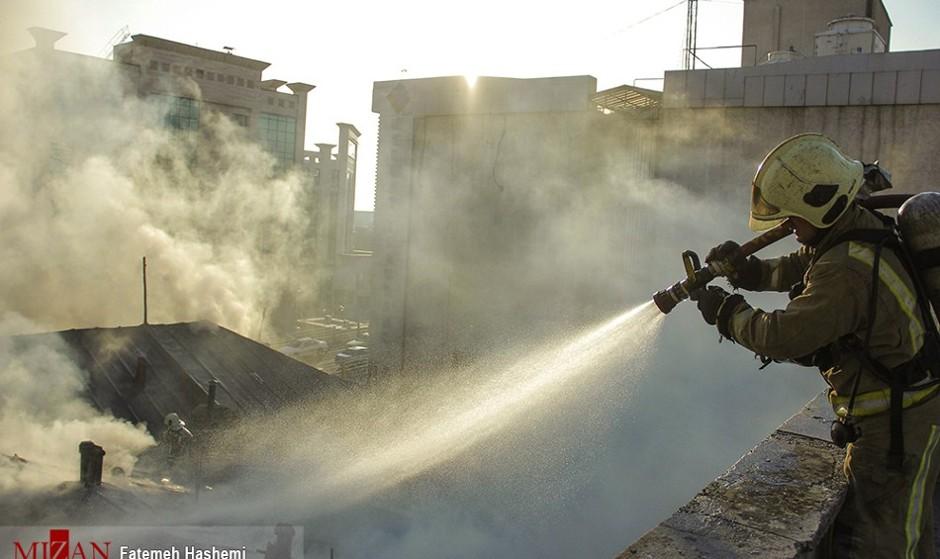 آتش سوزی در کوچه برلن تهران +عکس