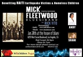 Andy and Shani performance with Artists for Peace and Justice for Haiti Victims