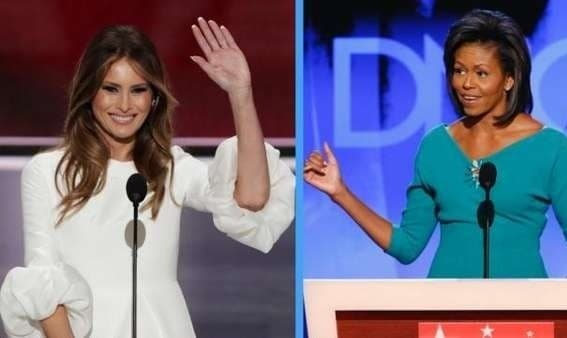 تقلب زن ترامپ: اکثر سخنرانی خود را از سخنرانی زن اوباما کپی کرد!