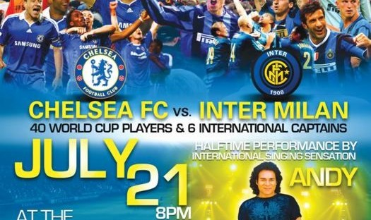 Andy  in Chelsea FC vs. Inter Milan Soccer Match: Half-Time Concert
