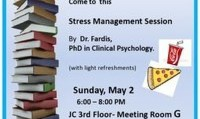Dr. Fardis: Stressed out about finals?