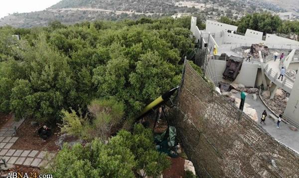 تصاویر نمایش موشک «خیبر۱» توسط حزبالله لبنان برای اولین بار