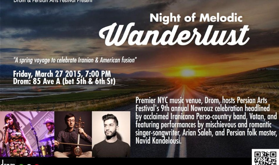 Persian Arts Festival + Drom Present: Night of Melodic Wanderlust