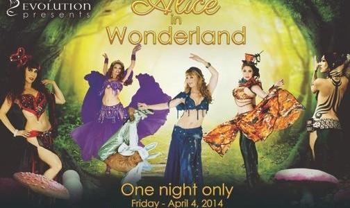 Bellydance Evolution's Alice in wonderland: Theatrical world-fusion dance