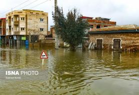 ایجاد خاکریز برای کاهش ورود آب به شهر آققلا با افزایش حجم آب گرگان رود