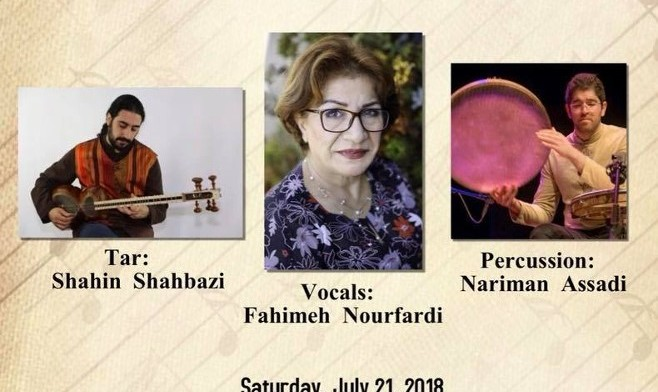 Persian Classical Music Concert with Fahimeh Nourfardi, Shahin Shahbazi and Nariman Assadi