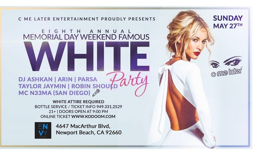 Memorial Day Weekend Famous White Party in Newport Beach