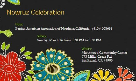 Nowruz Celebration by Persian American Association of Northern California