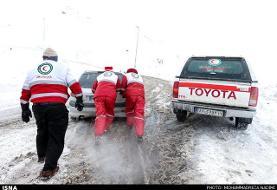 برف و کولاک در ۲۳ استان کشور: نجات بیش از ۳۰۰۰ نفر