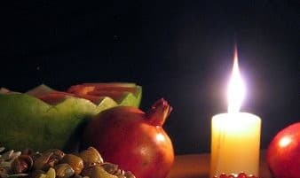 Yalda Night Celbration with Food, Pomegranates and Music