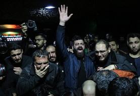 عزاداری بسیجیان برای بسیجی کشته شده در درگیری با دراویش معترض