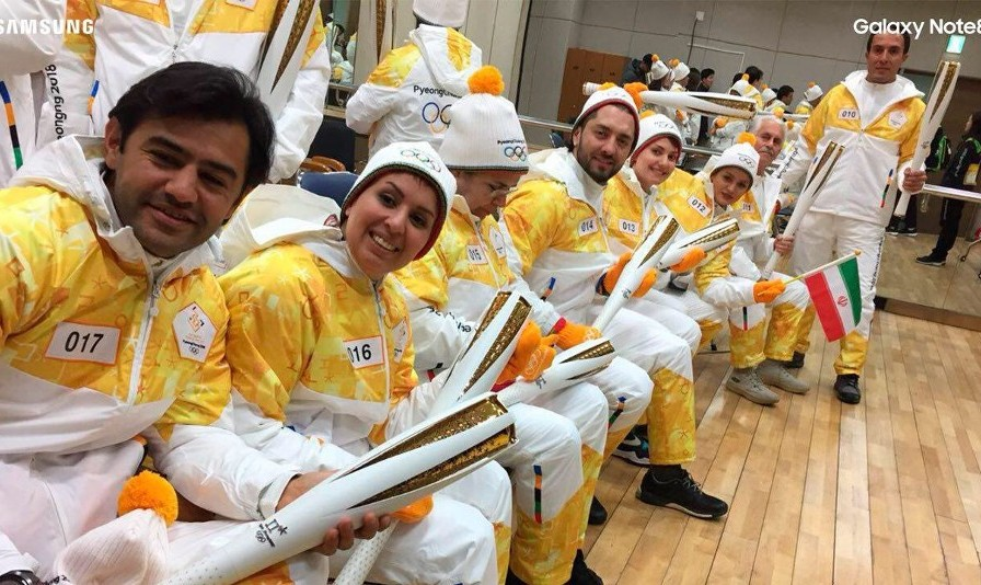Ten Iranians and Two Robots Among 7500 Torchbearers of Winter Olympics