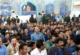تکلیف ما معلوم شه، نماز جمعه شروع شه! کشاورزان اصفهان در اعتراض به کم آبی نماز جمعه را بر هم زدند