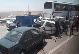 More than 50 cars collide in a chain accident in Karaj Qazvin highway