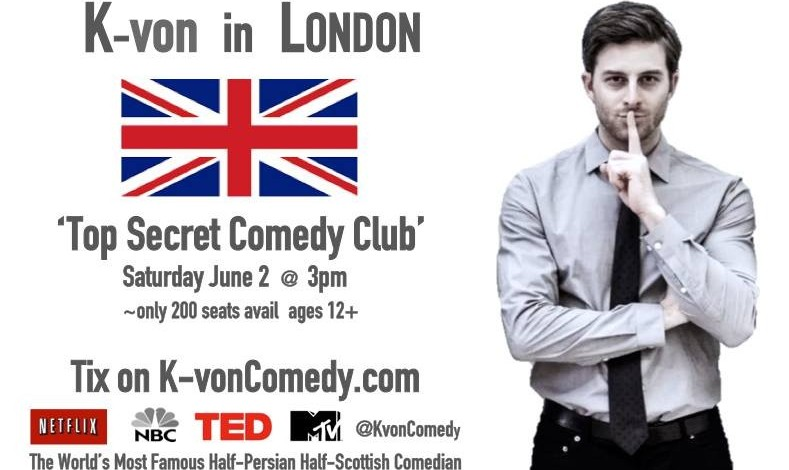 K-von in London: The Most Famous Half-Persian Comedian