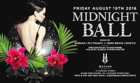 Midnight Ball: Maison Club with DJ Borhan
