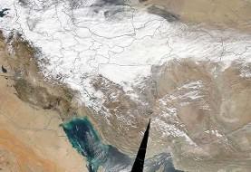 نصف ایران زیر برف: گزارش ماهوارهای ناسا (عکس)