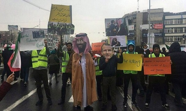 بازتاب راهپیمایی ۴۰ سالگی انقلاب: از تصاویر مکرون و بن سلمان تا سوزاندن پرچم آمریکا و اسراییل