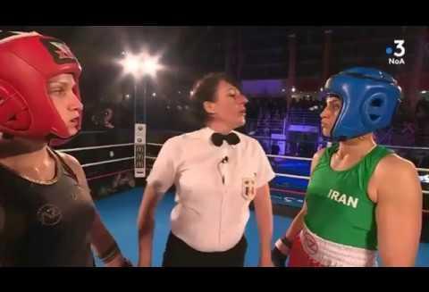 ویدئوی مبارزه و پیروزی دختر بوکسور ایرانی در فرانسه که منجر به حکم ...