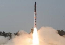 هند یک موشک بالستیک با قابلیت حمل کلاهک اتمی را با موفقیت آزمایش کرد