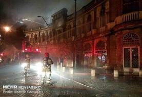 Hassan Abad's historic square burned in fire!