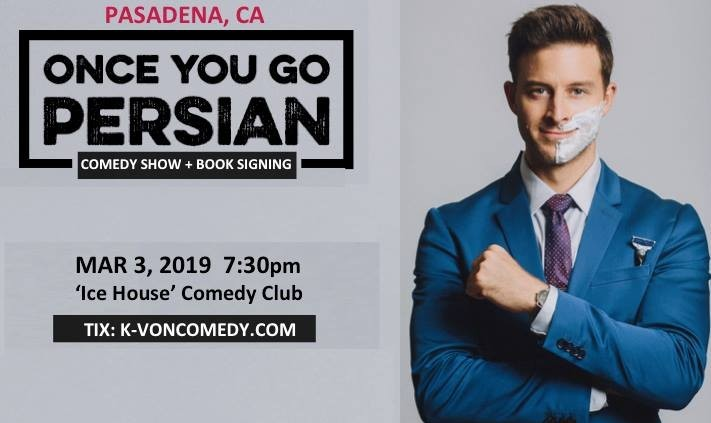 FREE Ticket for K-von, The Most Famous Half-Persian Comedian