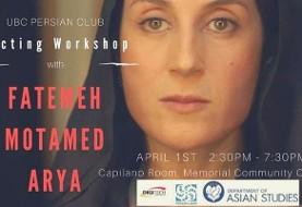 Fatemeh Motamed Aria, Workshop on Creative Acting