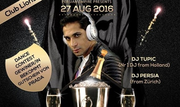 Persian Empire Presents Golden Night, with DJ Tupic and DJ Persia