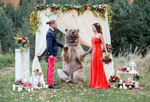 Photoshoot With A Real Russian Bear for $417
