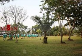 تیم امید ایران مجبور شد برای تمرین در بازیهای اسیایی زمین گلف اجاره کند! تصاویر