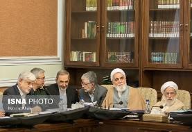 بازگشت احمدینژاد و توکلی در لباس عزا در جلسه امروز مجمع (عکس)
