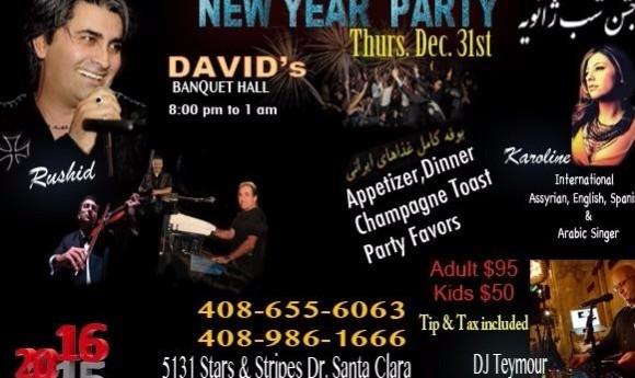 New Year's Eve Gala with Rushid, Karoline and DJ Teymour