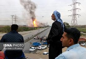 تصاویر جدید انفجار در خط لوله گاز اهواز به رامهرمز