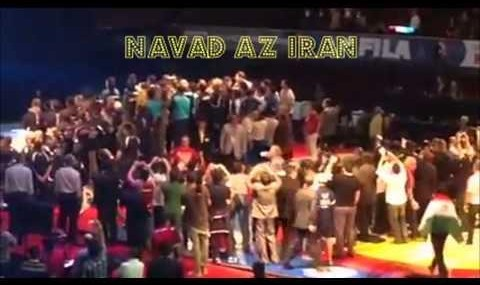 تحیر کشتیگیر آمریکایی از انرژی و میزان حمایت ایرانیهای لس ...