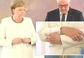 لرزش و تشنج دوباره صدر اعظم آلمان + ویدئو
