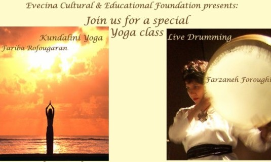 Yoga class with Live Drumming