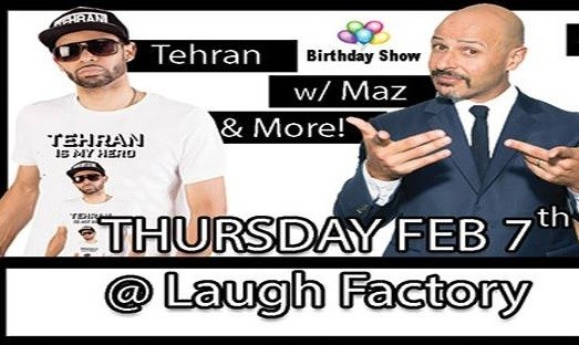 Tehran's Birthday Show, with Maz, Russell Peters and others